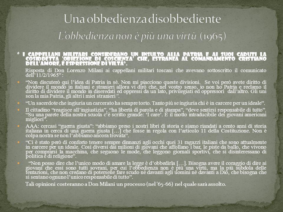 Una obbedienza disobbediente L'obbedienza non è più una virtù (1965)