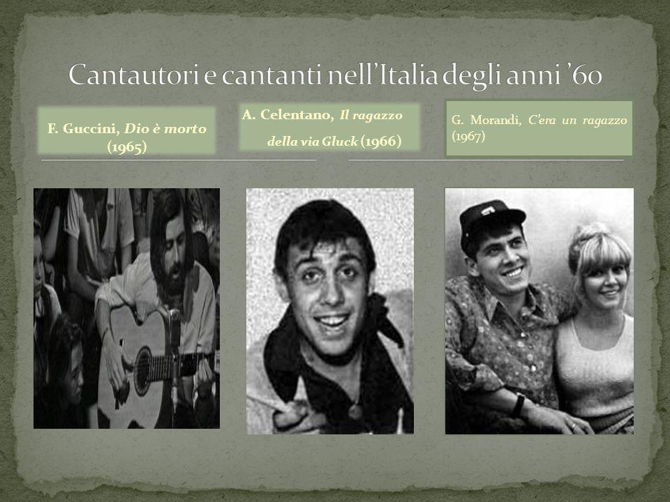 Cantautori e cantanti nell'Italia degli anni '60