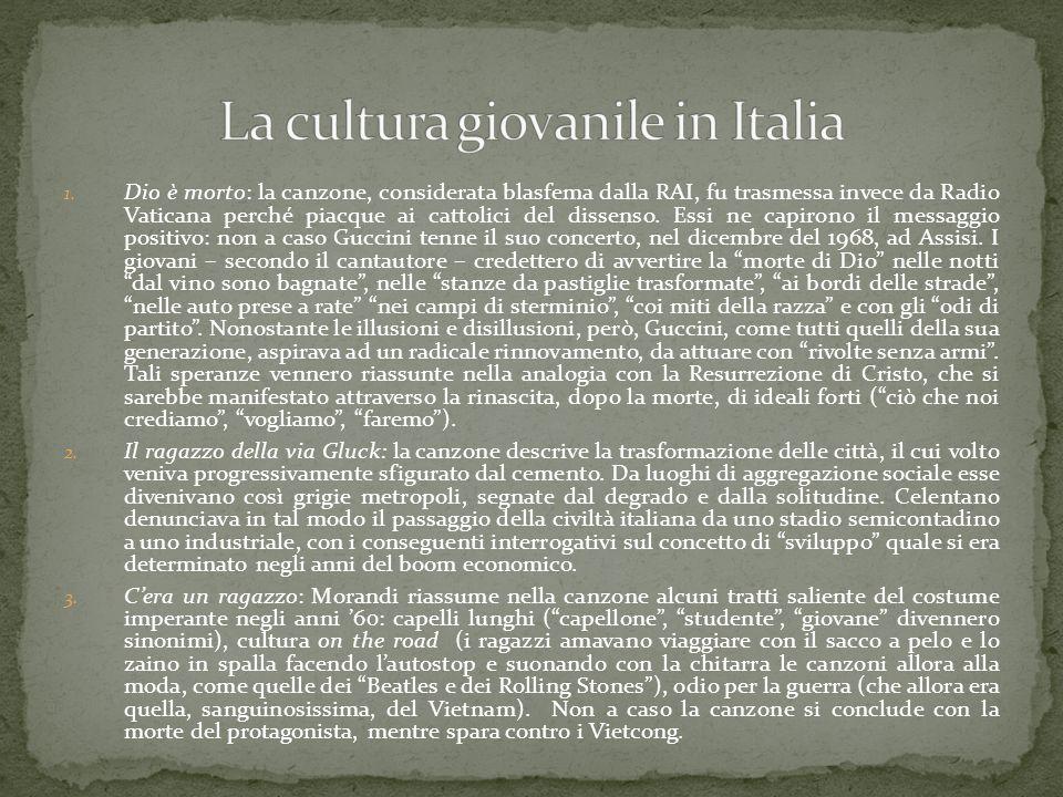 La cultura giovanile in Italia
