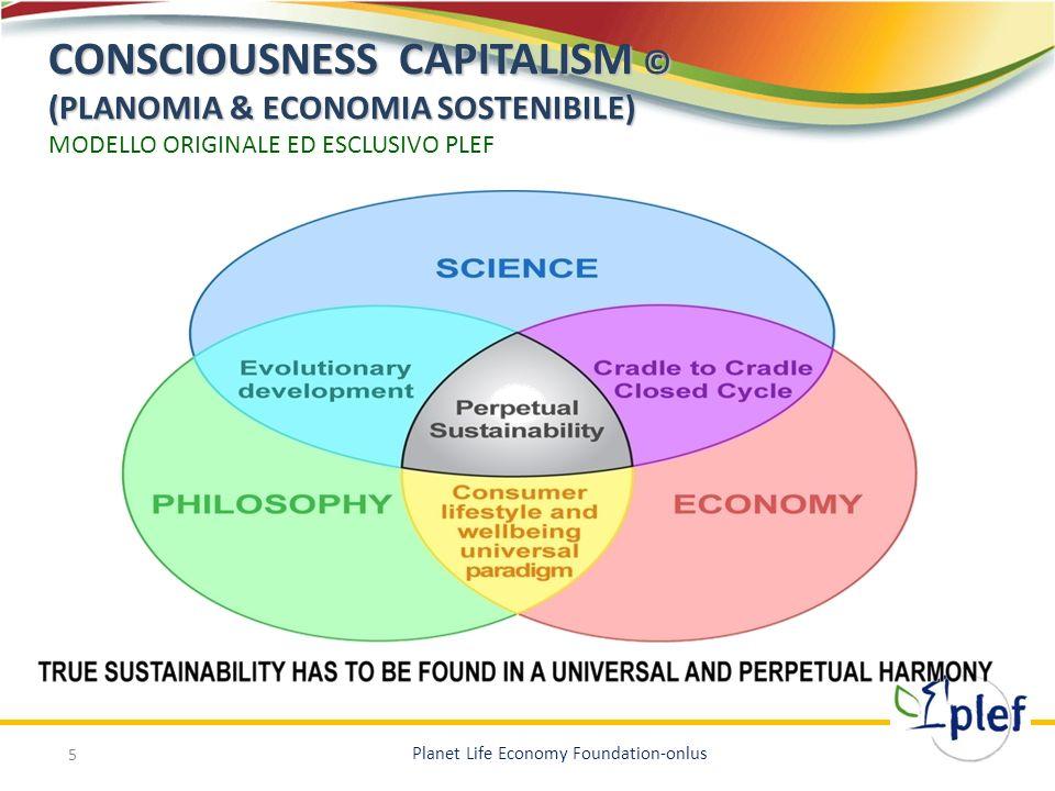 CONSCIOUSNESS CAPITALISM © (PLANOMIA & ECONOMIA SOSTENIBILE) MODELLO ORIGINALE ED ESCLUSIVO PLEF