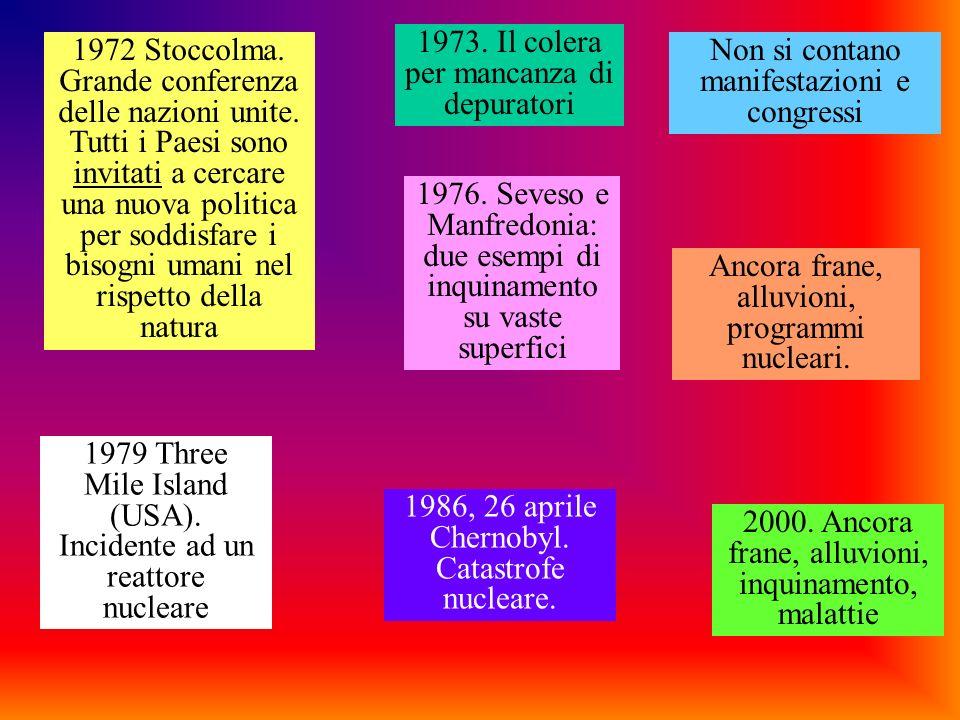 1973. Il colera per mancanza di depuratori