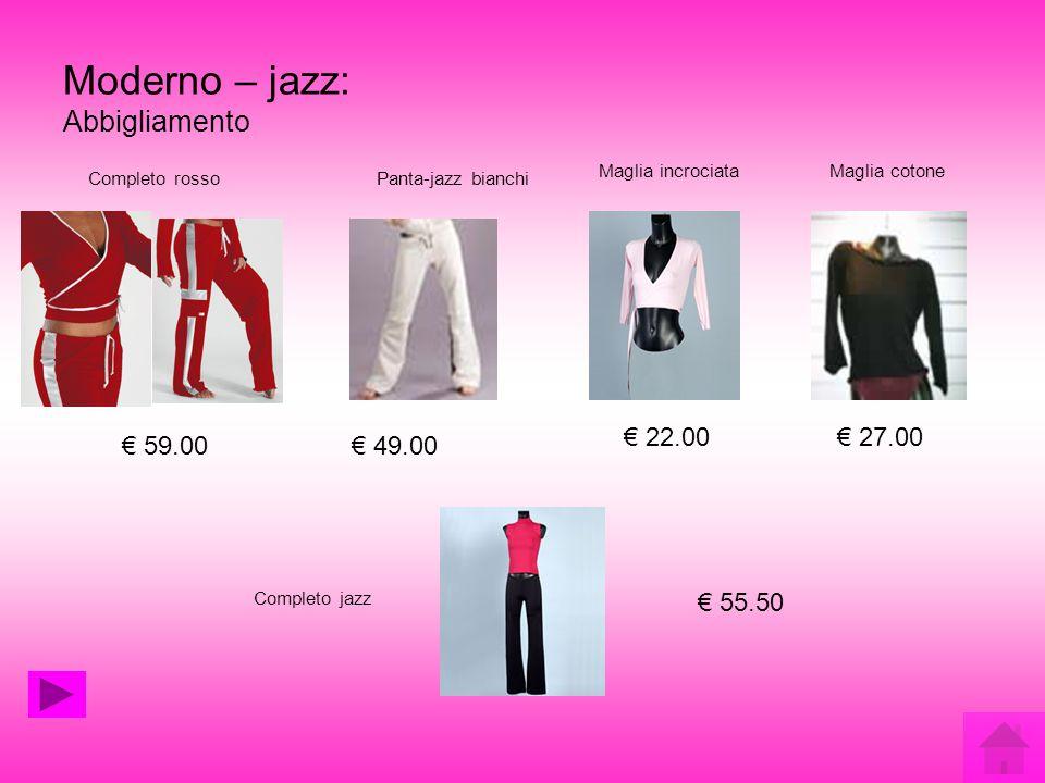 Moderno – jazz: Abbigliamento