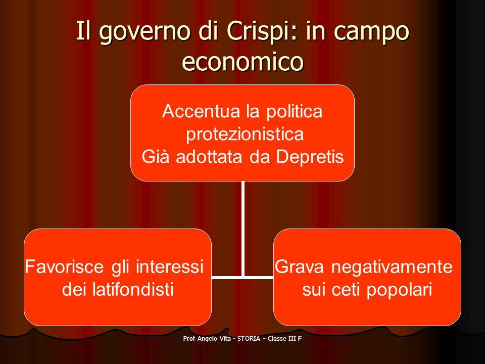Il governo di Crispi: in campo economico