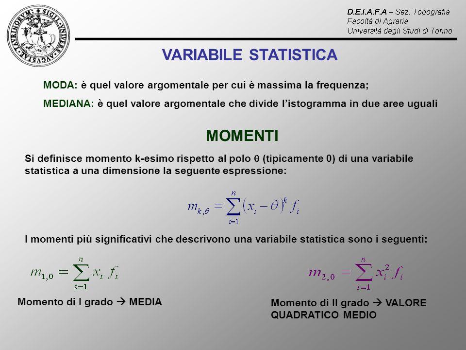 VARIABILE STATISTICA MOMENTI