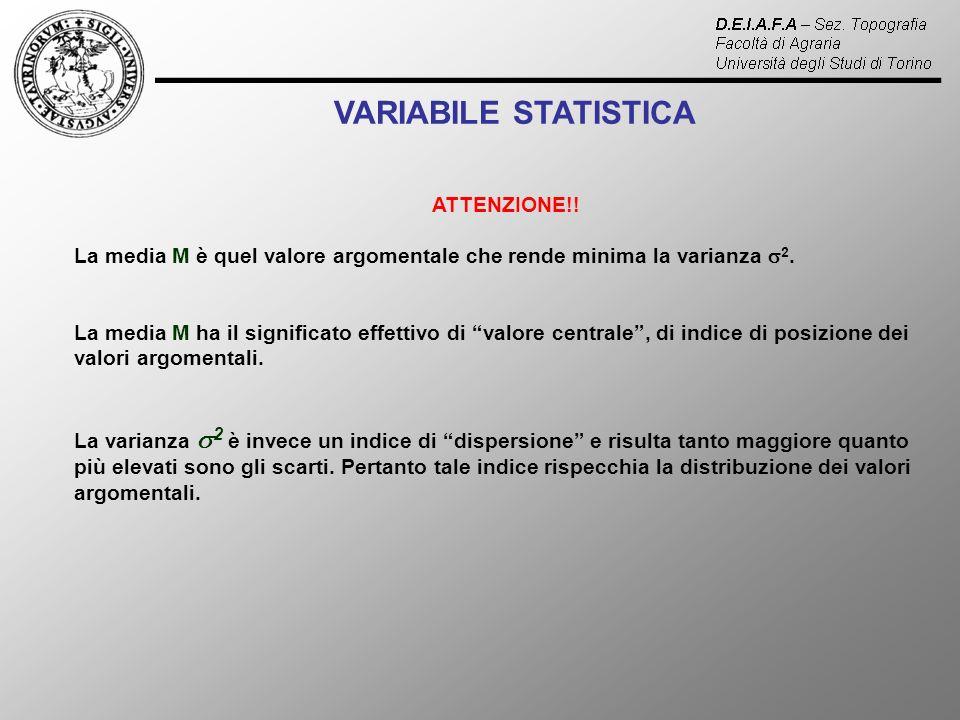 VARIABILE STATISTICA ATTENZIONE!!