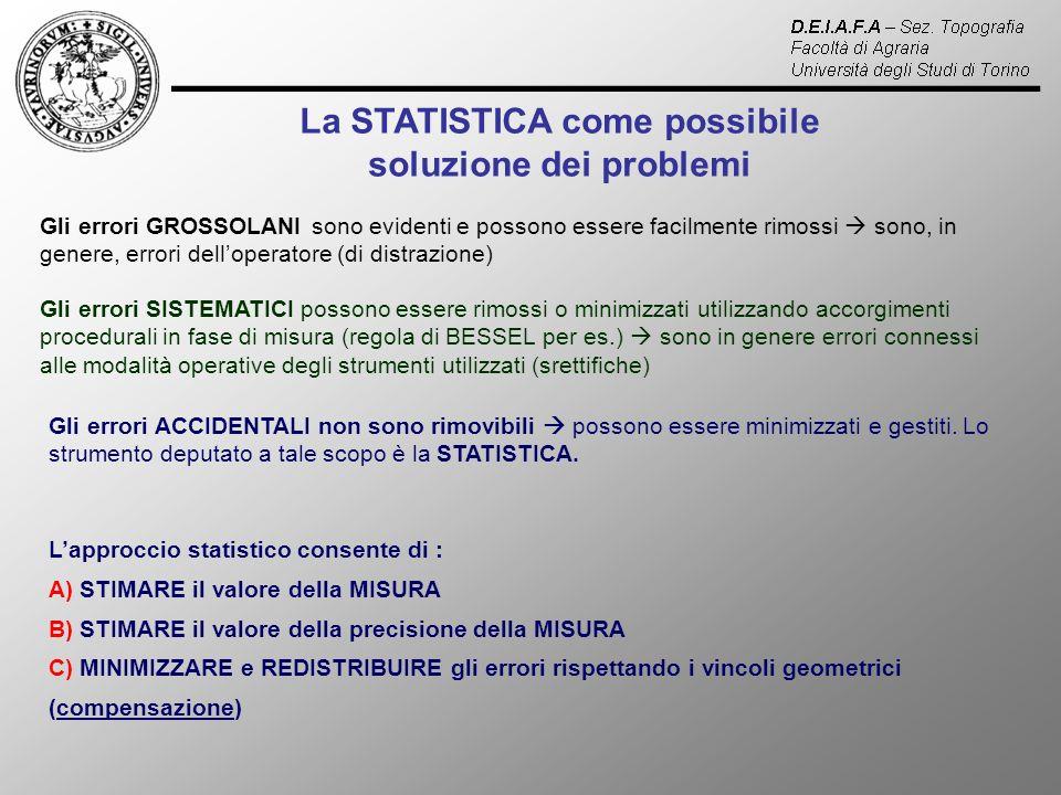 La STATISTICA come possibile soluzione dei problemi