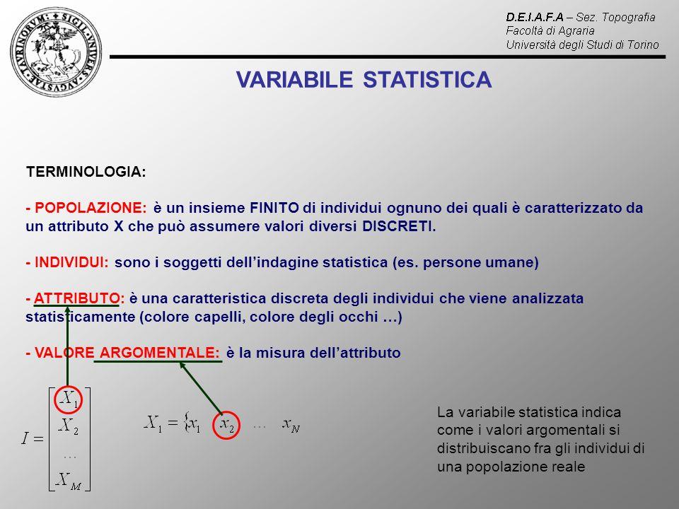VARIABILE STATISTICA TERMINOLOGIA: