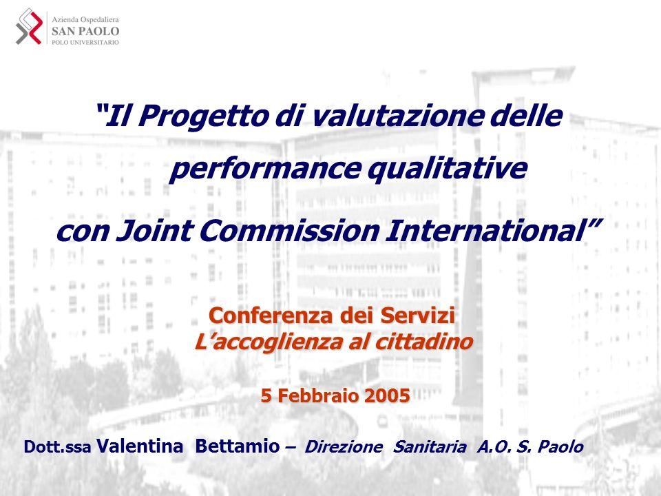 Il Progetto di valutazione delle performance qualitative