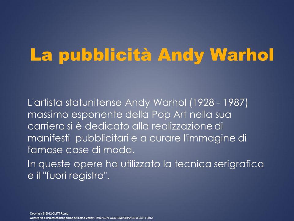 La pubblicità Andy Warhol