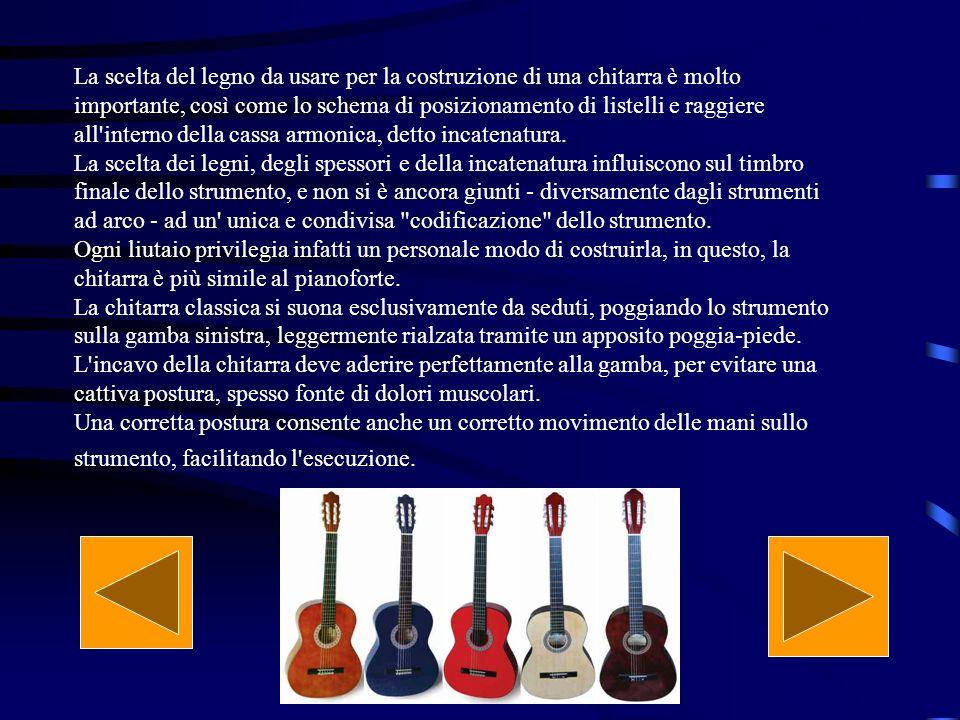 La scelta del legno da usare per la costruzione di una chitarra è molto importante, così come lo schema di posizionamento di listelli e raggiere all interno della cassa armonica, detto incatenatura.