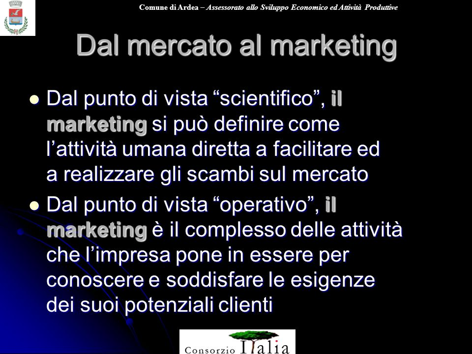 Dal mercato al marketing