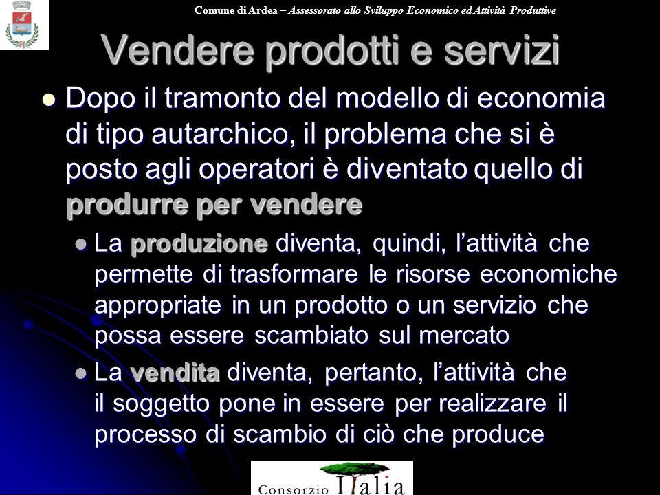 Vendere prodotti e servizi
