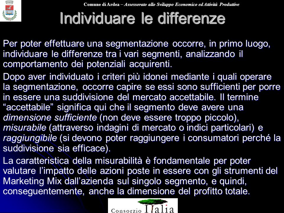 Individuare le differenze
