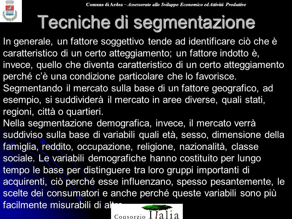 Tecniche di segmentazione