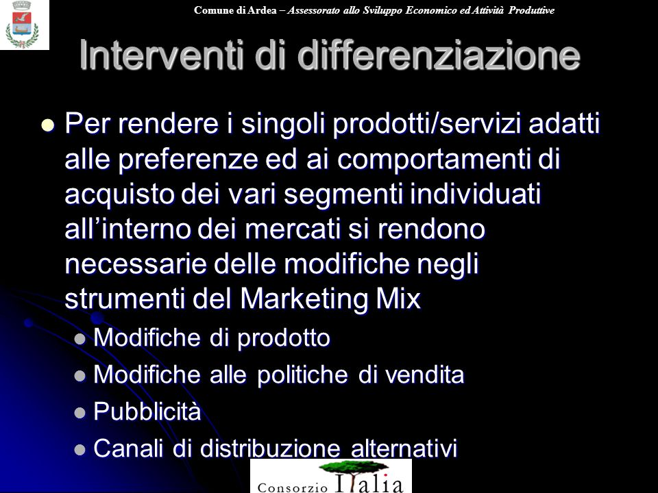 Interventi di differenziazione