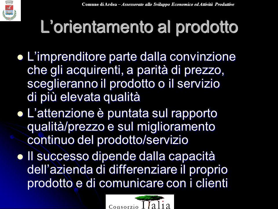 L'orientamento al prodotto