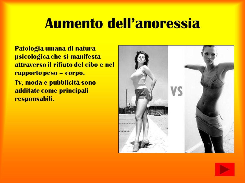 Aumento dell'anoressia
