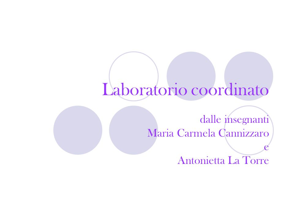 Laboratorio coordinato