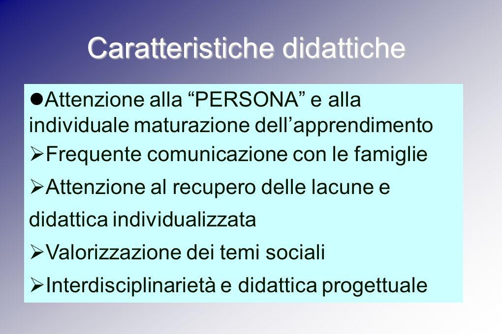 Caratteristiche didattiche