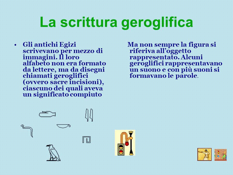 La scrittura geroglifica