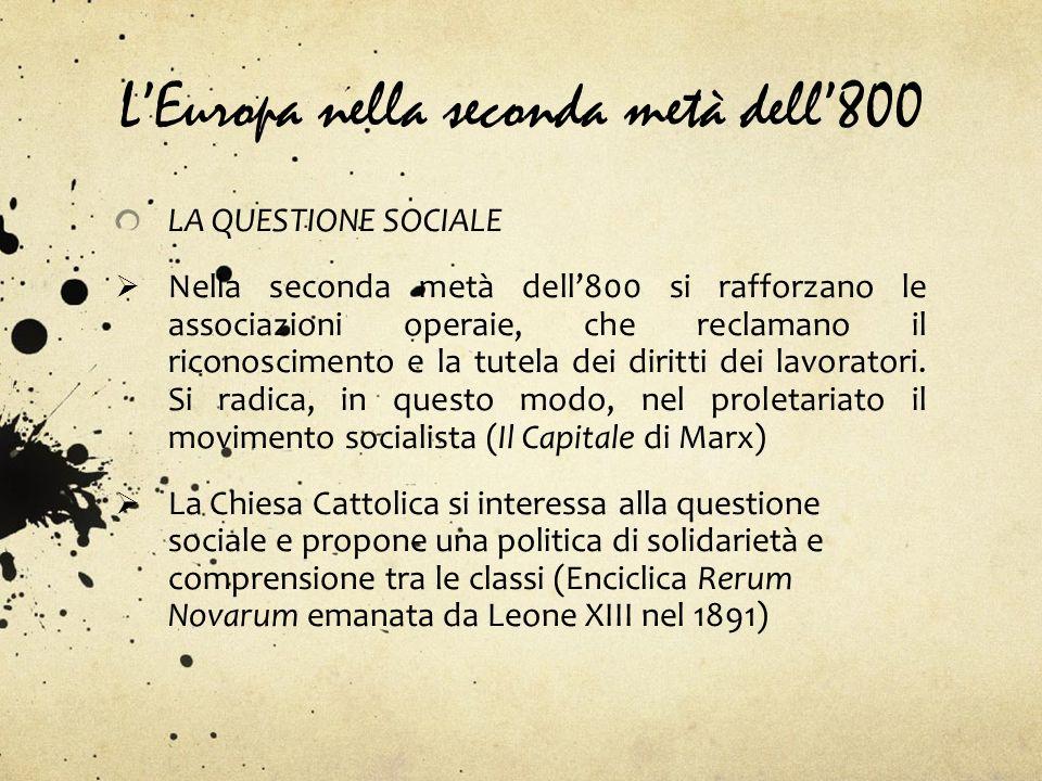 L'Europa nella seconda metà dell'800