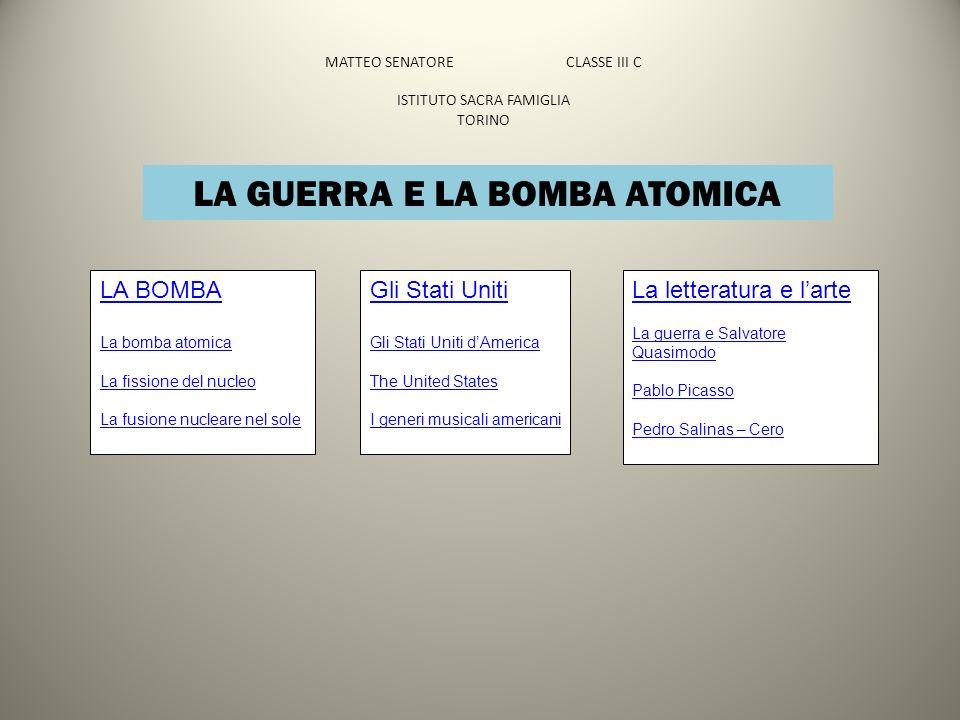 MATTEO SENATORE CLASSE III C ISTITUTO SACRA FAMIGLIA TORINO