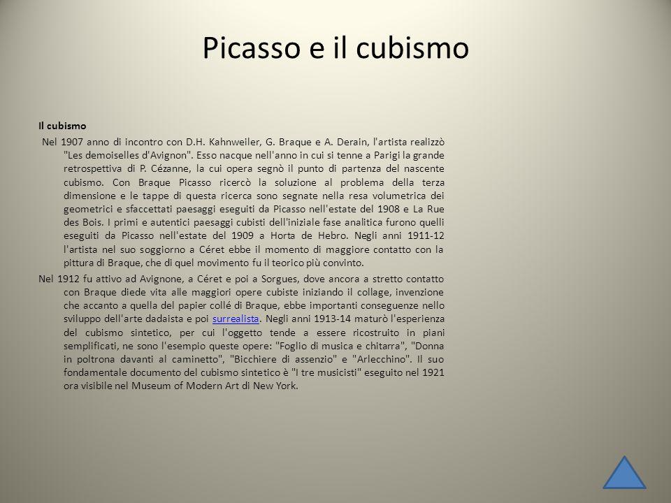 Picasso e il cubismo