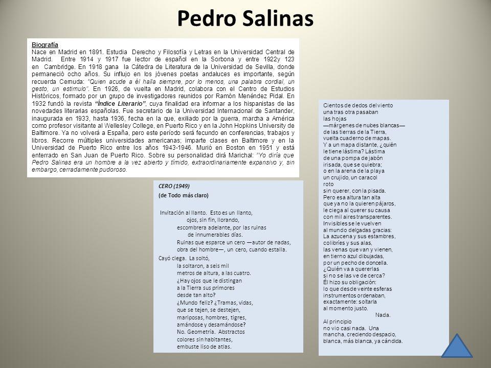 Pedro Salinas Biografía