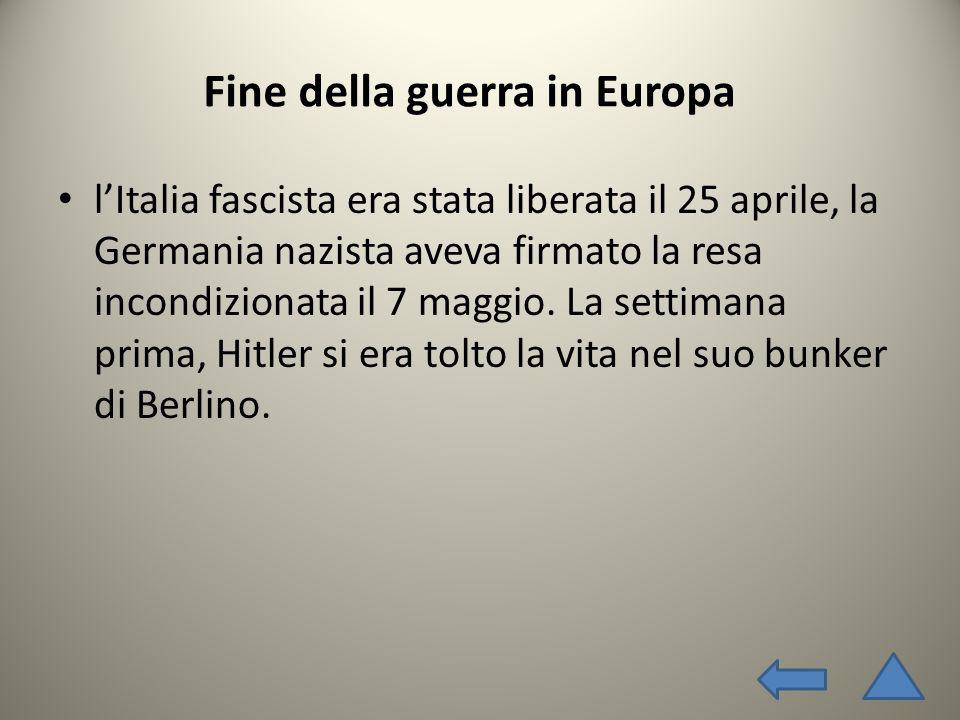 Fine della guerra in Europa