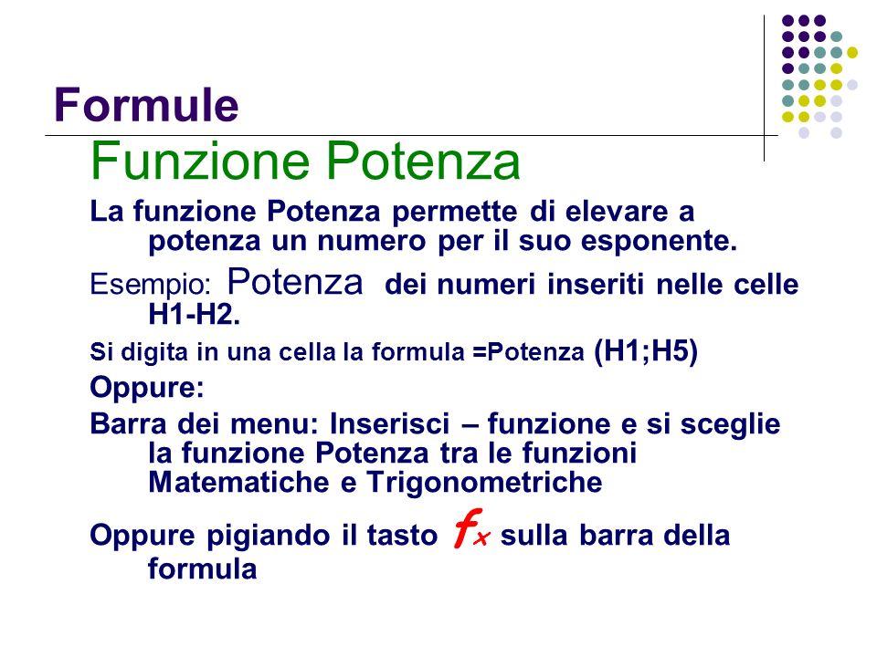 Funzione Potenza Formule