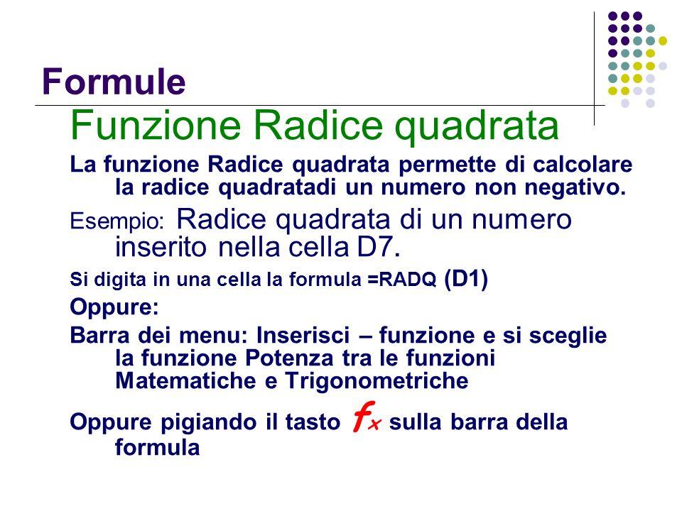 Funzione Radice quadrata