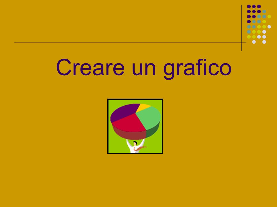 Creare un grafico