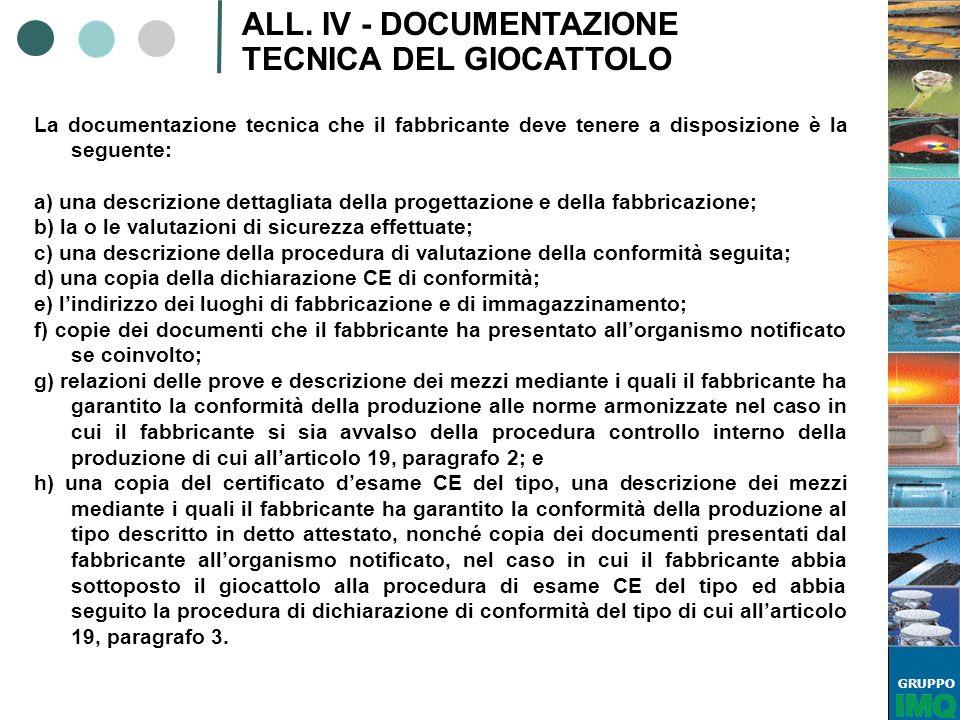 ALL. IV - DOCUMENTAZIONE TECNICA DEL GIOCATTOLO