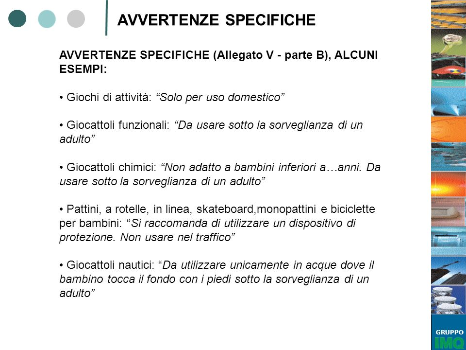 AVVERTENZE SPECIFICHE