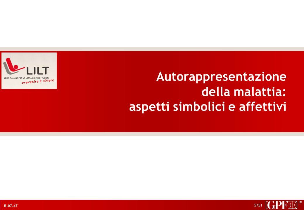 Autorappresentazione della malattia: aspetti simbolici e affettivi