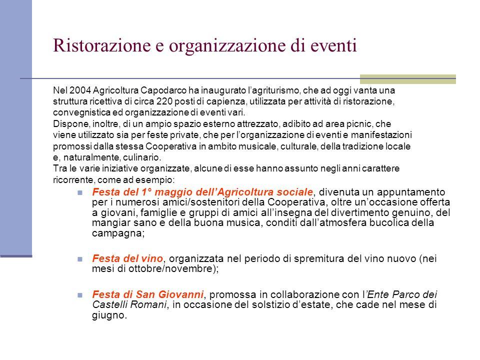 Ristorazione e organizzazione di eventi