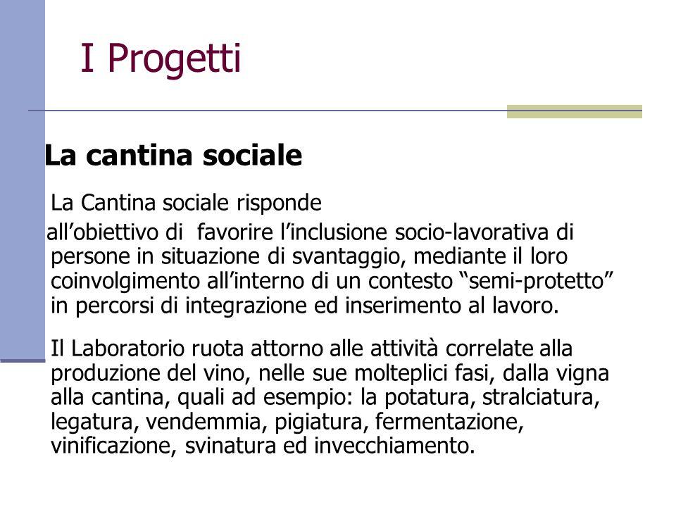I Progetti La cantina sociale La Cantina sociale risponde