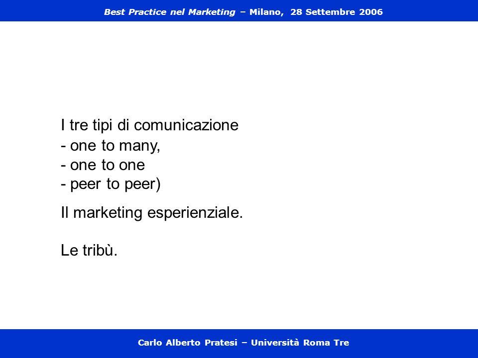 I tre tipi di comunicazione