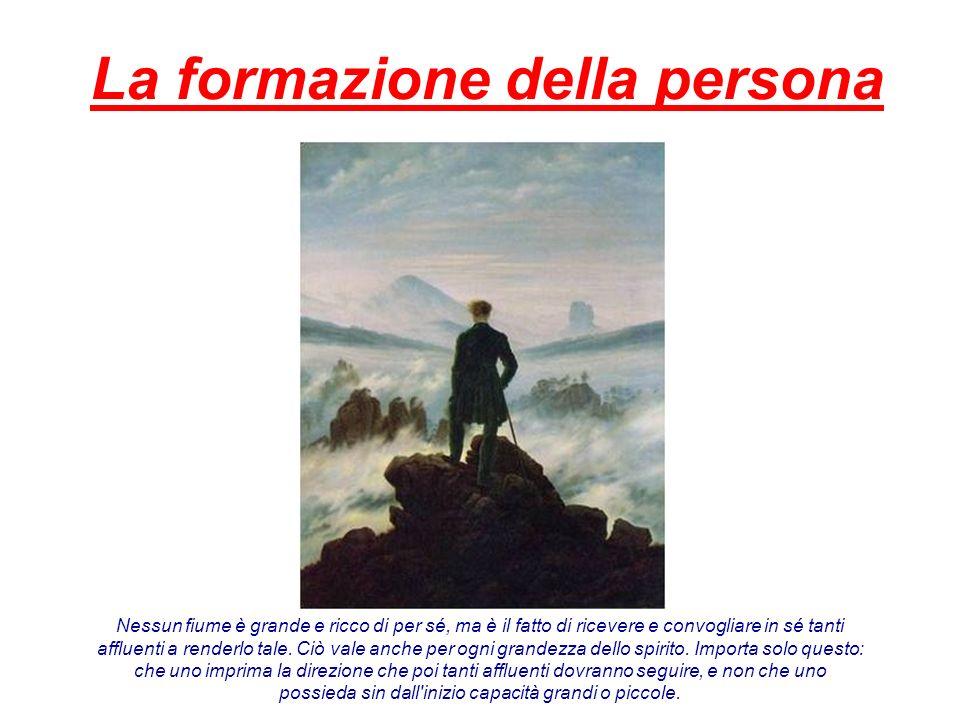 La formazione della persona