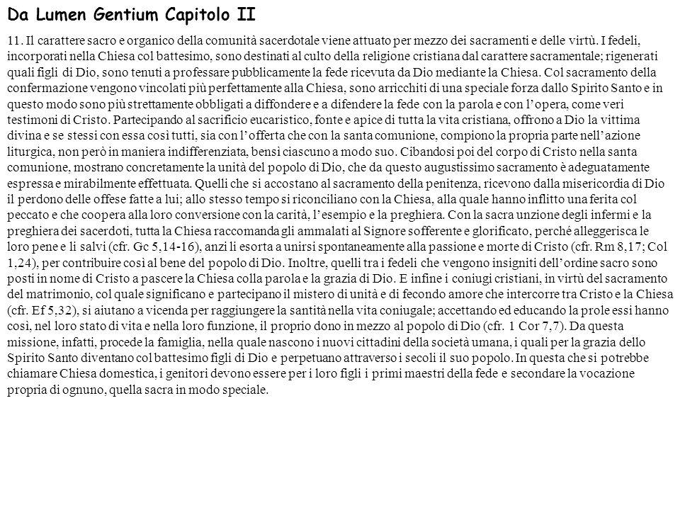 Da Lumen Gentium Capitolo II