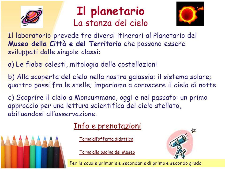Il planetario La stanza del cielo