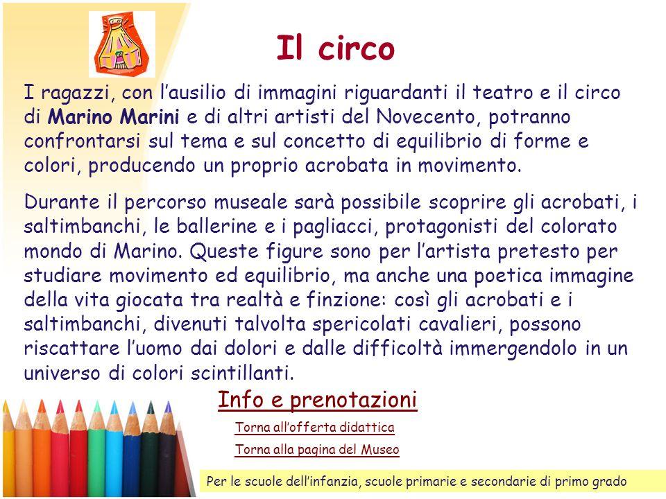 Il circo Info e prenotazioni