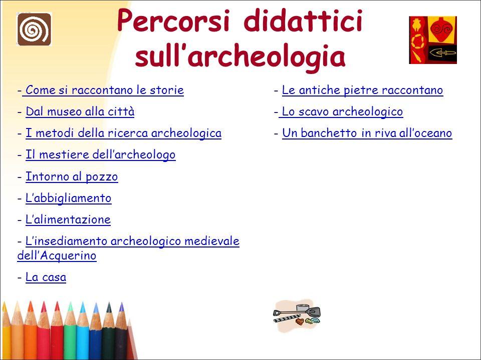 Percorsi didattici sull'archeologia