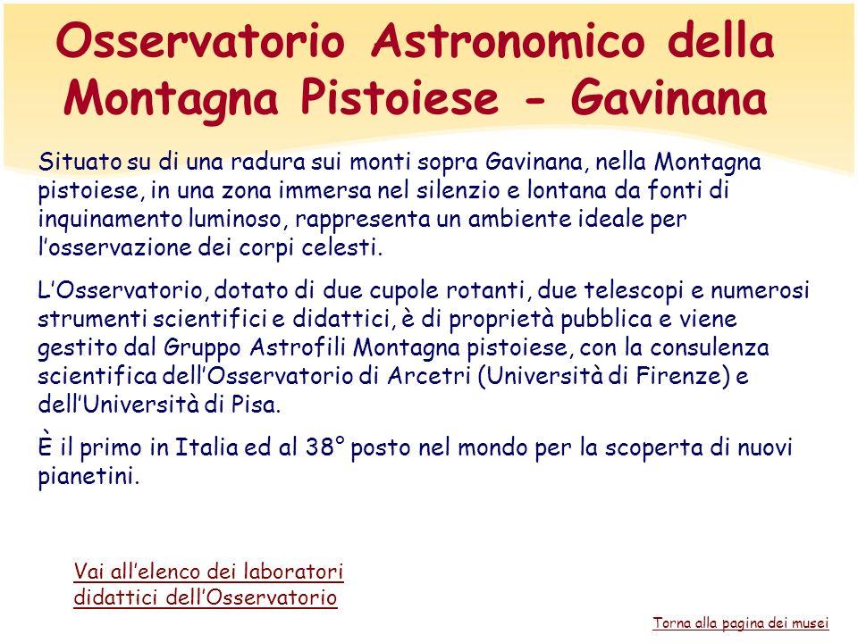 Osservatorio Astronomico della Montagna Pistoiese - Gavinana