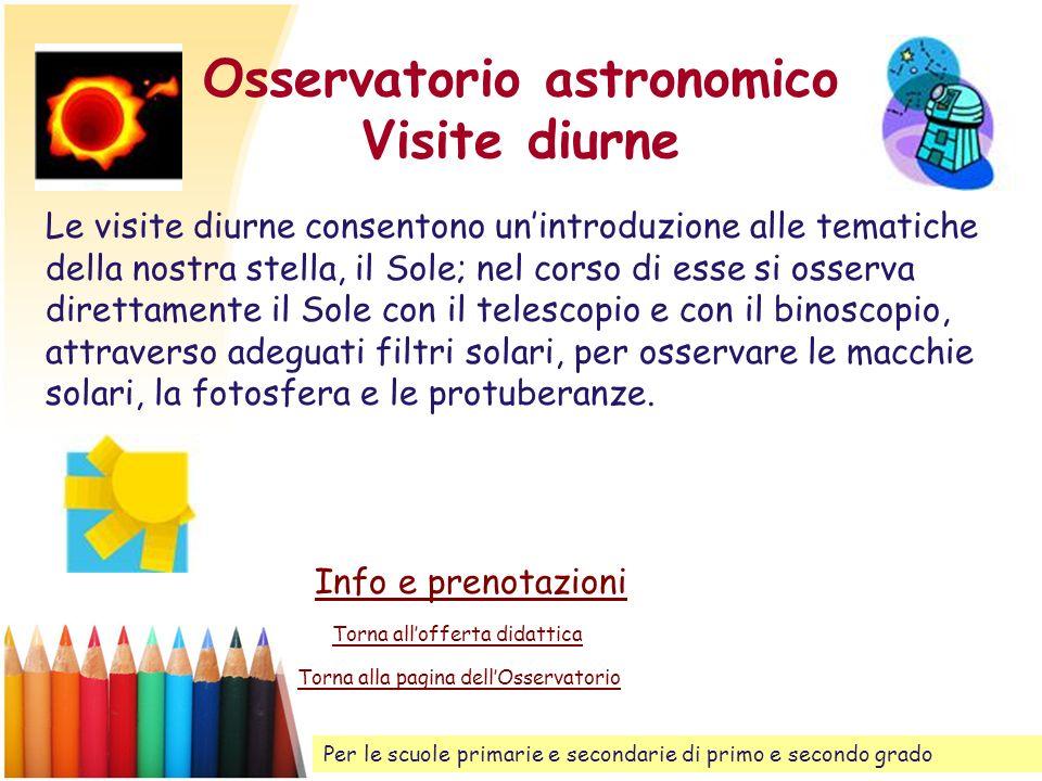 Osservatorio astronomico Visite diurne