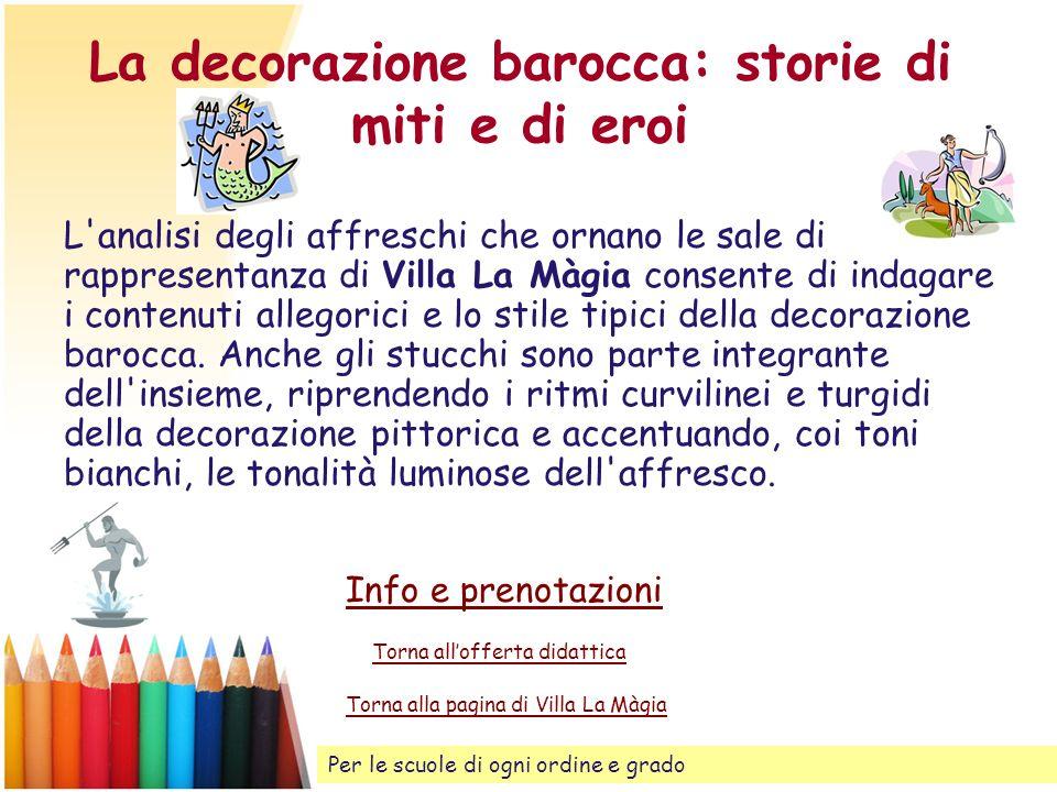 La decorazione barocca: storie di miti e di eroi