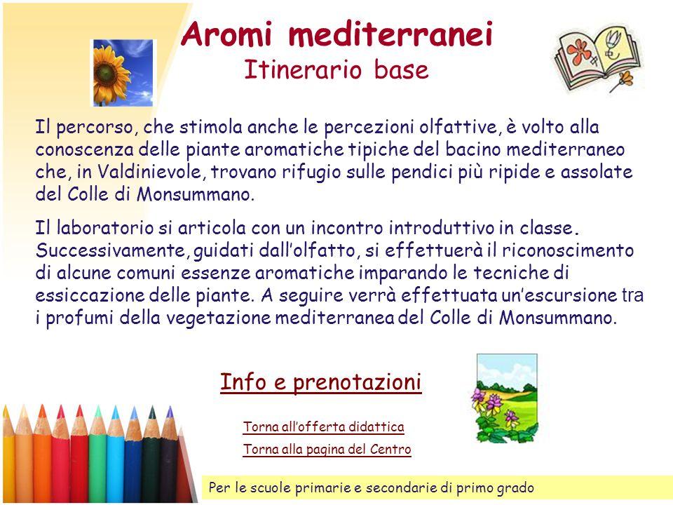 Aromi mediterranei Itinerario base