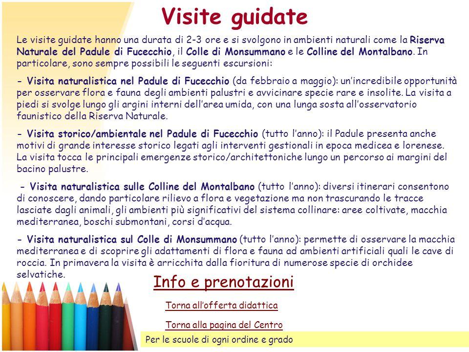 Visite guidate Info e prenotazioni