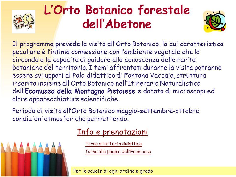 L'Orto Botanico forestale dell'Abetone