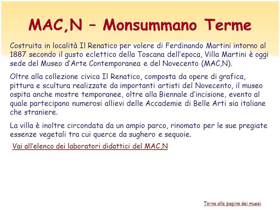 MAC,N – Monsummano Terme